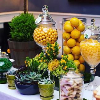 Lemon Yellow Dessert Table La Tea Da By Ruth Los Angeles