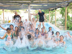 Bathing at the Natural Hot Springs