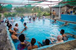 Enjoying international networking in the hot springs