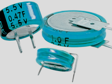 CDE-IC offers coin-cell Supercapacitors to replace discontinued Panasonic Gold capacitors
