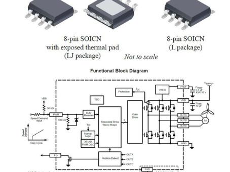 12V 应用单芯片三相无传感器正弦驱动器 #A4949