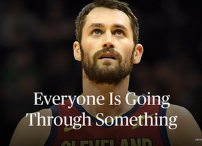 Everyone is going through something … even Kevin Love