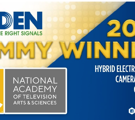 Belden Takes Home Emmy® Award for Hybrid Electrical & Fiber Camera Cable and Connectors