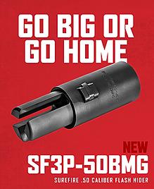 SUREFIRE RELEASE NEW 50BMG 3-Prong Flash Hider // Go BIG or Go Home