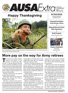 AUSA Extra - More pay on the way for US Army retirees