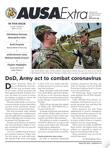 US DoD, Army act to combat coronavirus (COVID-19)