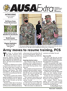 US Army moves to resume training, PCS