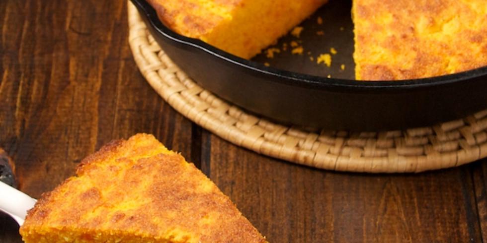 Virtual Cooking Class- Sweet Potato and Honey cornbread