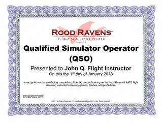 Qualified Simulator Operator (QSO) Program