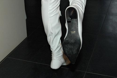 Witte hoge laarzen