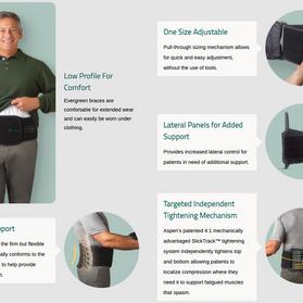 Evergreen Lumbar Support Orthotic Description- Durable Medical Equipment