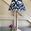 Thumbnail: 30cm blue and ivory ikat print coolie lampshade