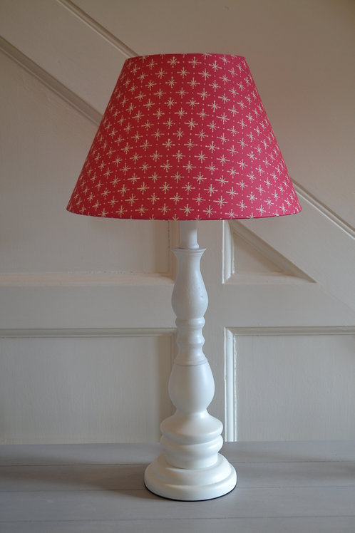 30cm Fuschia pink with white star coolie shade