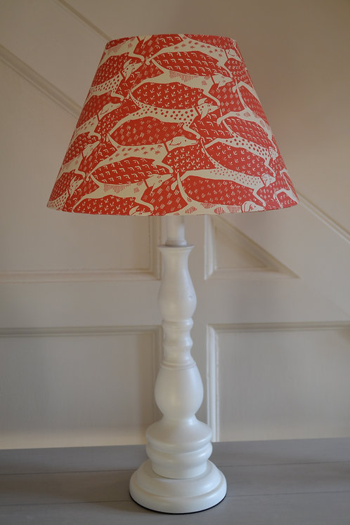 30cm red and ivory long dogs coolie shade