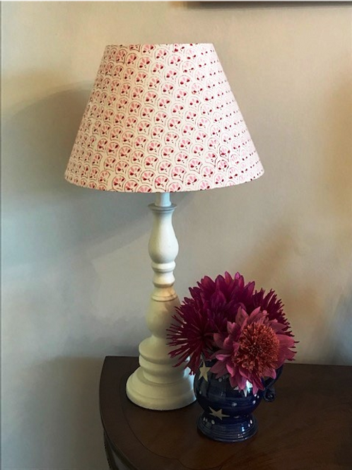 30cm pink and red block print shade
