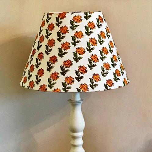 30cm marigold block print coolie lampshade