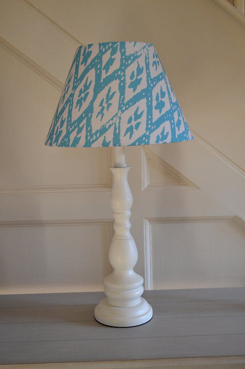 Turquoise and white geometric 30cm coolie shade