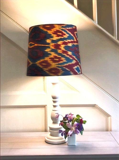 Small 30cm handmade silk ikat retro lampshade