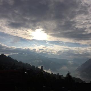 Magisches Fanas - Blick Richtung Prättigau von der Terrasse