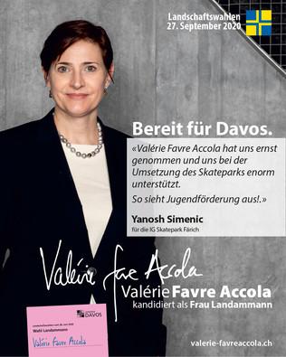 Ich wähle Valérie Favre Accola als Frau Landammann