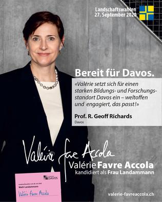 Ich wähle Valérie Favre Accola als Frau Landammanng