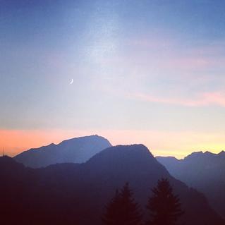 Gute Nacht in Fanas - Ausblick von Terrasse