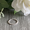 Thumbnail: Simple sterling silver stacking ring (beaded)