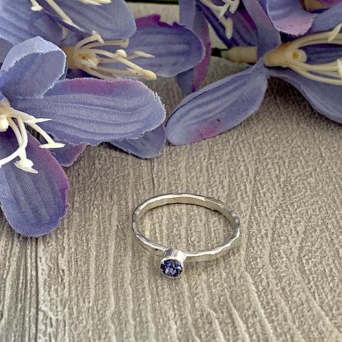 Swarovski Crystal Stacking ring - Tanzanite