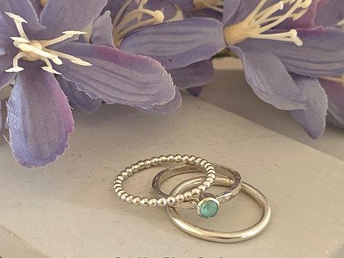 Swarovski Crystal Stacking rings - Crystal Mint Green