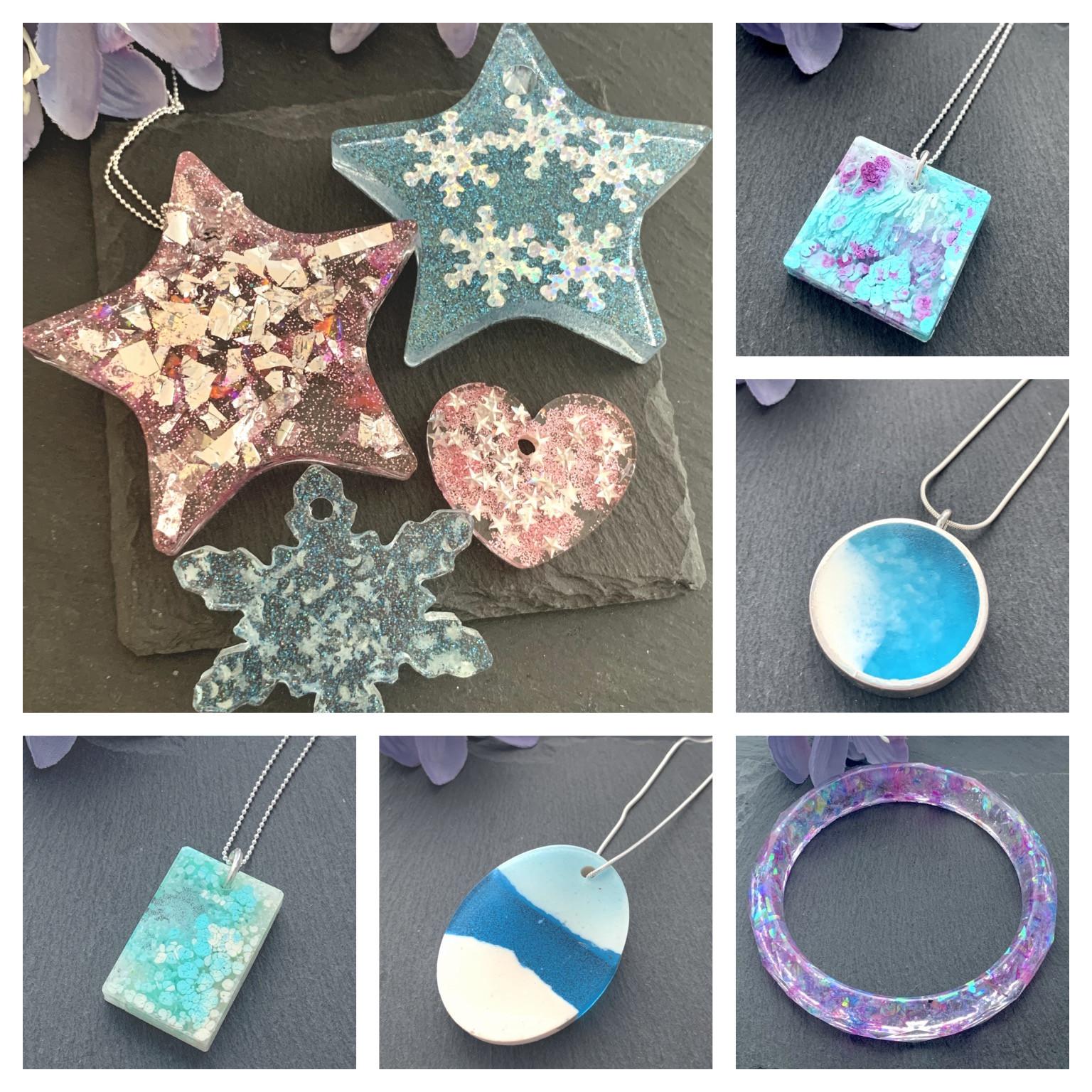Resin Christmas Decorations & jewellery