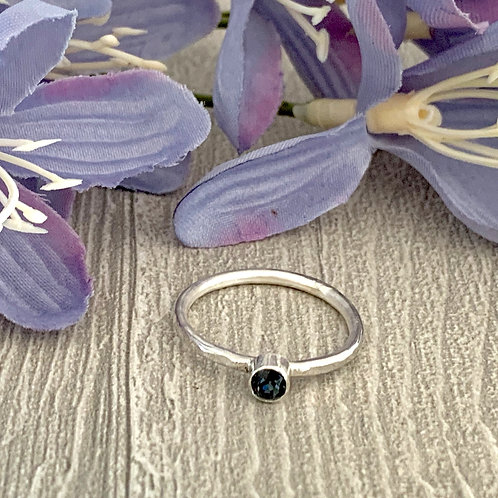 Swarovski Crystal Stacking ring - Graphite