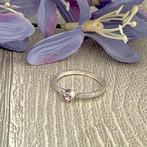 Swarovski Crystal Stacking ring - Light Amethyst