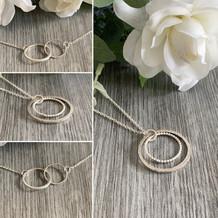 Halo/infinity necklaces