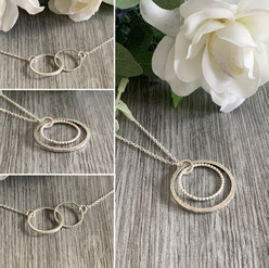 Halo/infinity necklaces