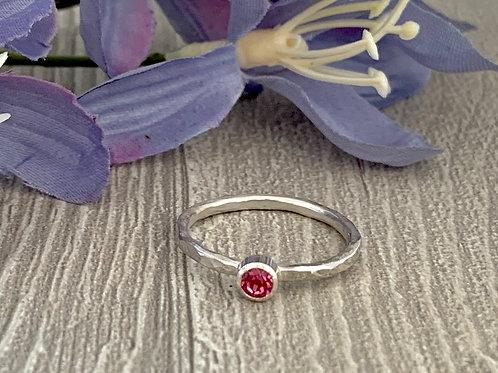 Swarovski Crystal Stacking ring -Rose