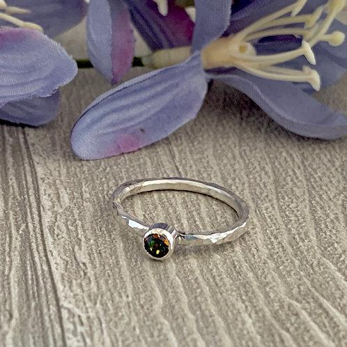 Swarovski Crystal Stacking ring - Crystal Vitrail Medium