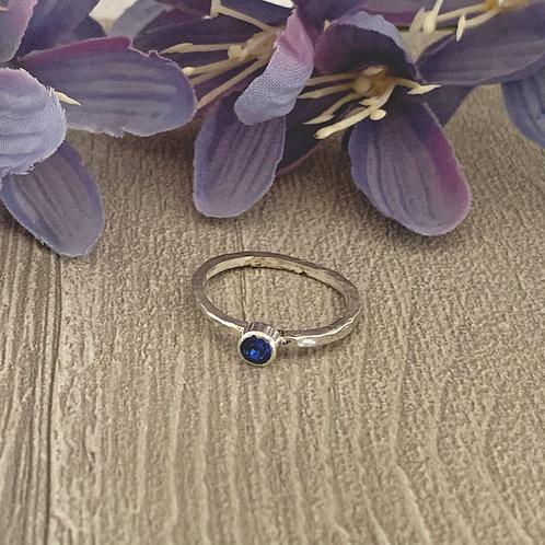 Swarovski Crystal Stacking ring - Capri Blue