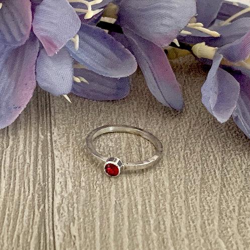 Swarovski Crystal Stacking ring - Ruby