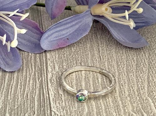 Swarovski Crystal Stacking ring -Crystal Paradise Shine
