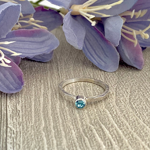 Swarovski Crystal Stacking ring - Aquamarine