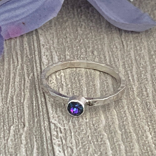 Swarovski Crystal Stacking ring - Crystal Heliotrope