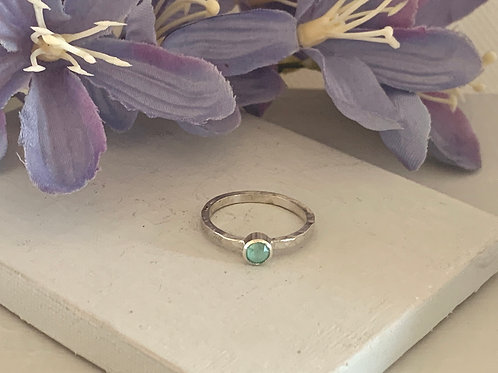 Swarovski Crystal Stacking ring- Crystal Mint Green