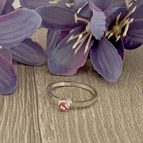 Swarovski Crystal Stacking ring - Light Rose