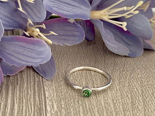 Swarovski Crystal Stacking ring -Erinite