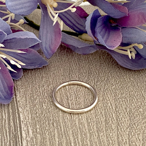 Simple Sterling stacking ring (Round wire)