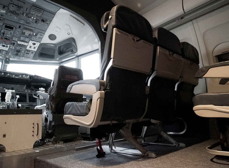 Our 737 Simulator is fully installed!