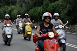 vespa on the road