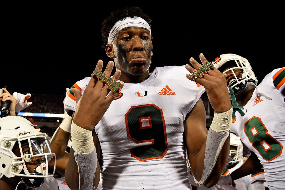 Brevin Jordan, University of Miami Tight End goes to the Jacksonville Jaguars in this mock draft