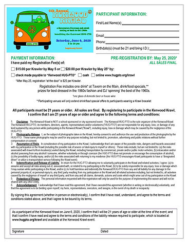 2020 Kenwood Krawl Registration Form