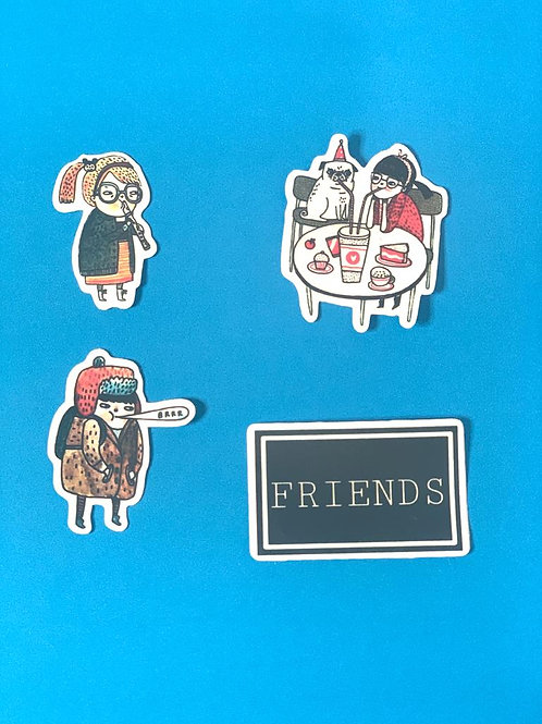 Forever Alone Character Stickers